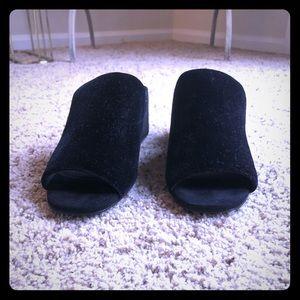 Black velvet slides-Jeffrey Campbell new w/o box